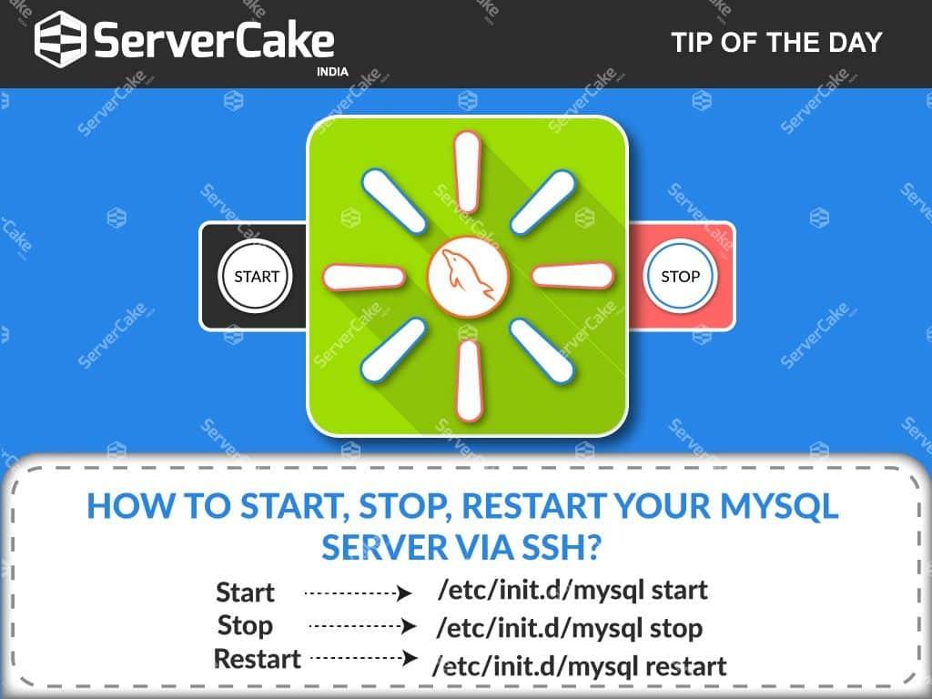 Start Stop Restart MySQL server