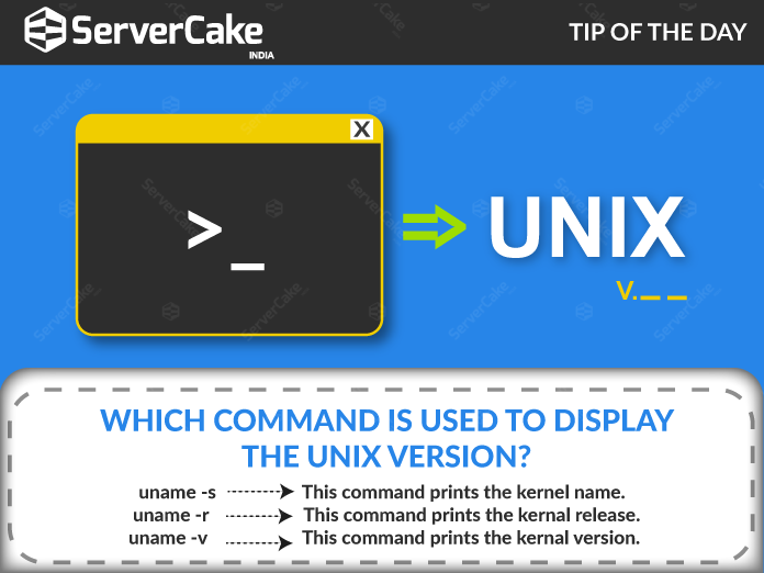 Which Command Is Used To Display The Unix Version