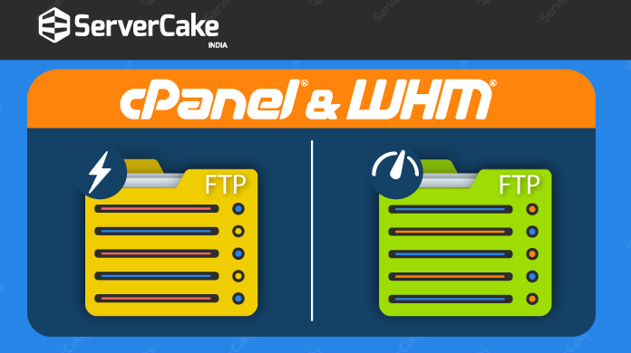What are the Two FTP Servers available in cPanel and WHM?