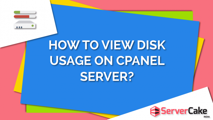 How to view disk usage on cPanel server