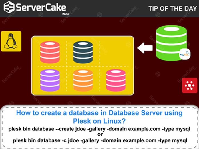 Adding MySQL database in Database Server using Plesk on Linux