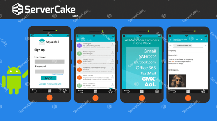 What is Aqua Mail and explain its features? - ServerCake India