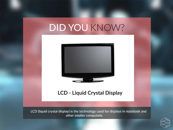 lcd liquid crystal display This paper presents a new architecture for liquid crystal display television (lcd  tv), intelligent lcd (i-lcd), which enables communication between the ima.