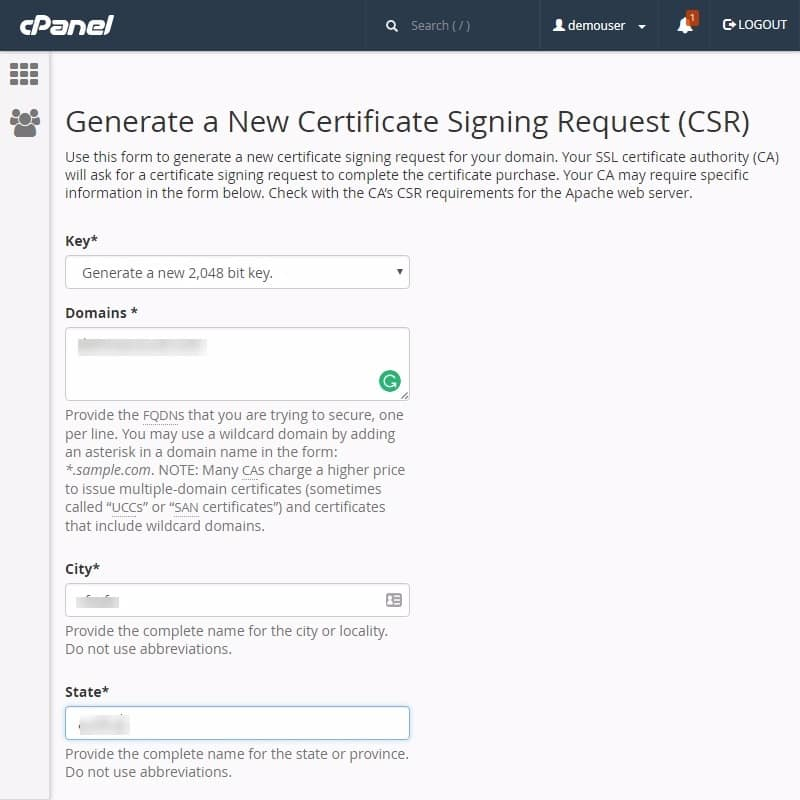 How To Generate Csr Through Cpanel To Install Ssl Certificate