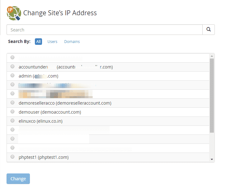 Change Site's IP Address