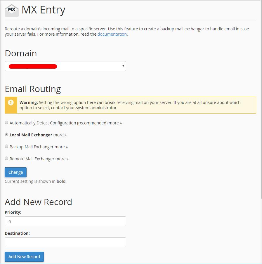 MX Entry