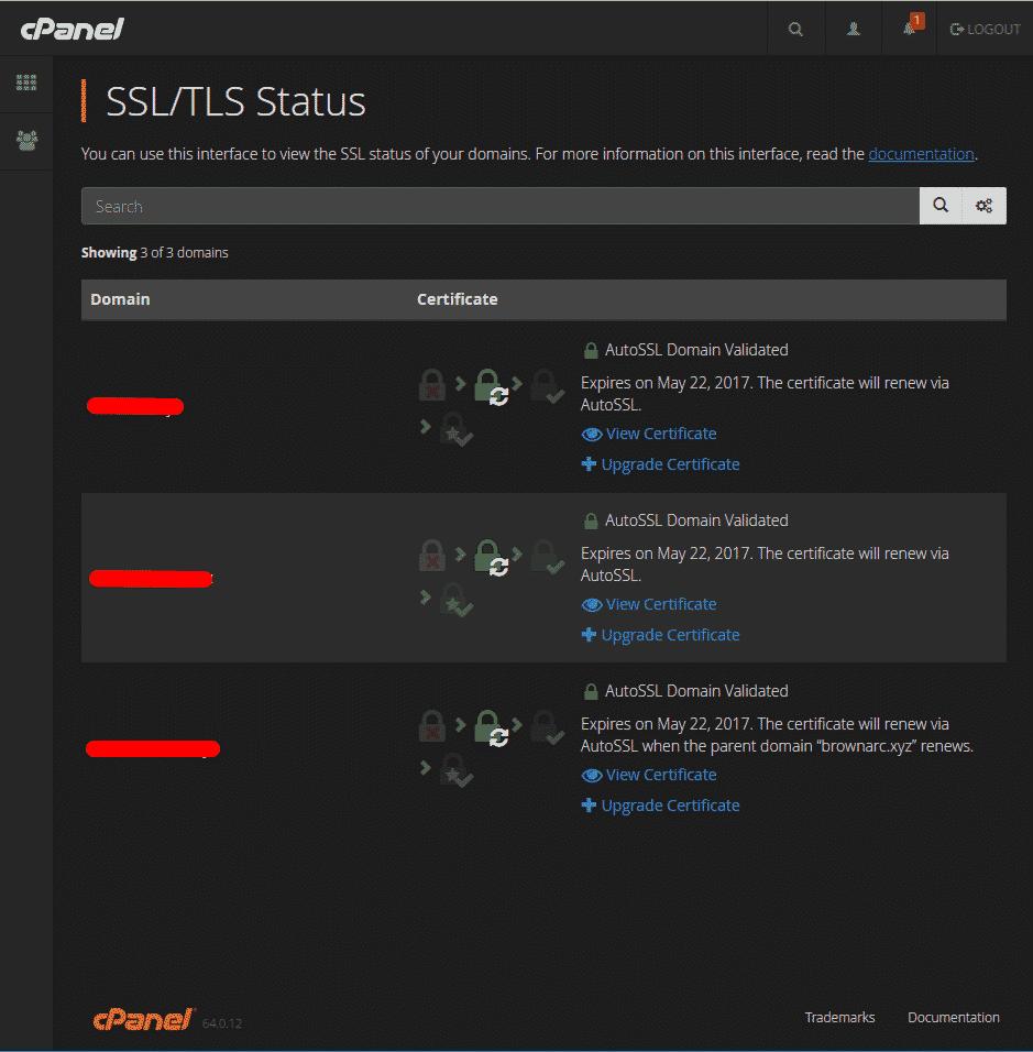 SSL status