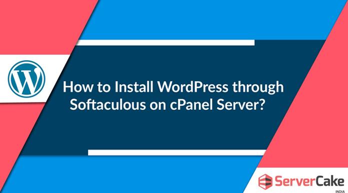 Install WordPress using Softaculous
