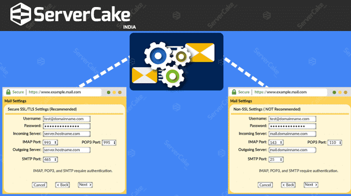 Email Client Configuration Settings - ServerCake India