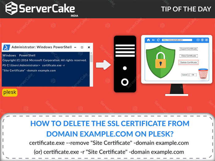 How To Delete The Ssl Certificate From Domain On Plesk