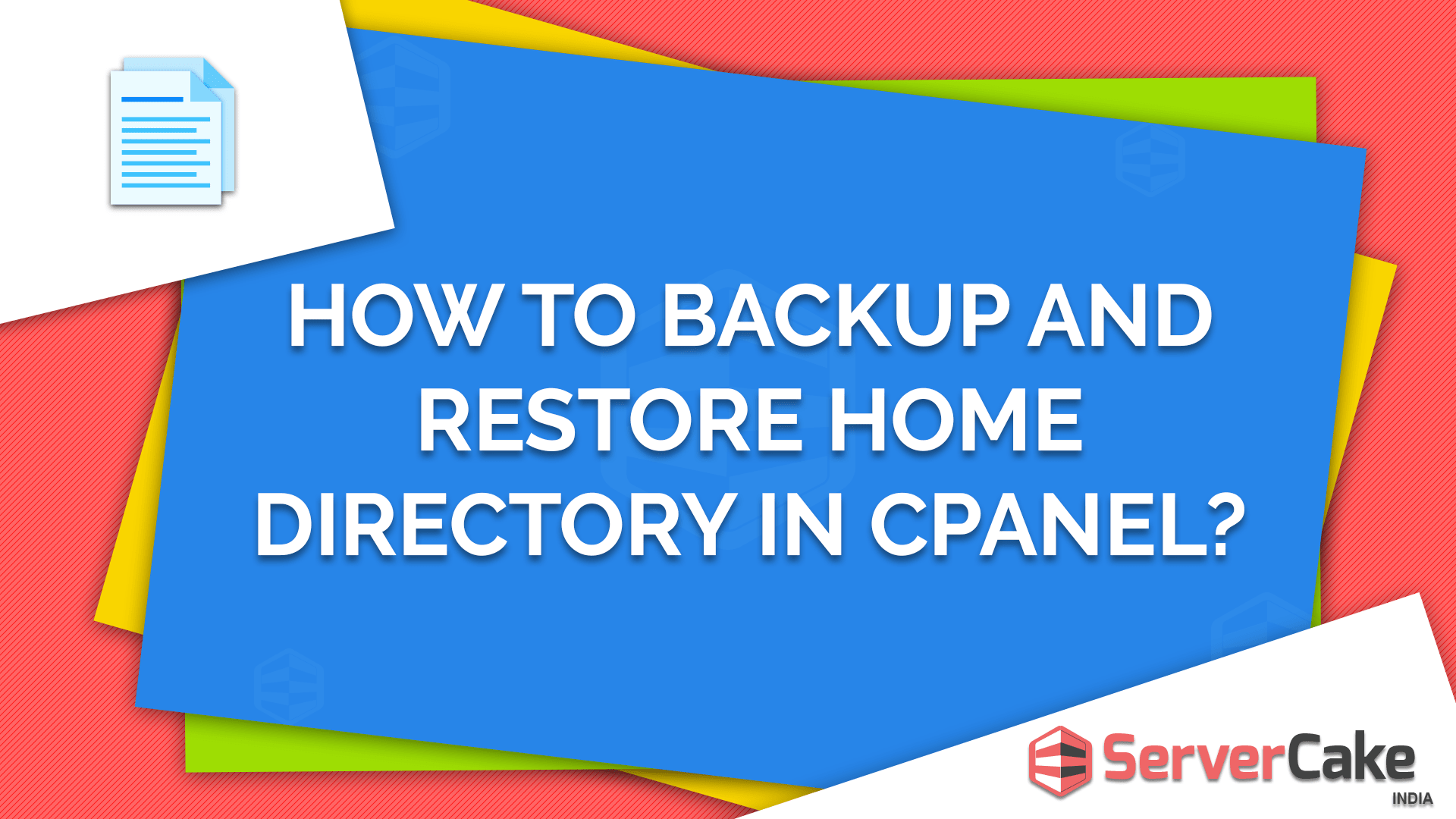 Backup and Restore Home Directory in cPanel