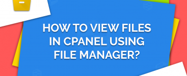 view files in cPanel using File Manager