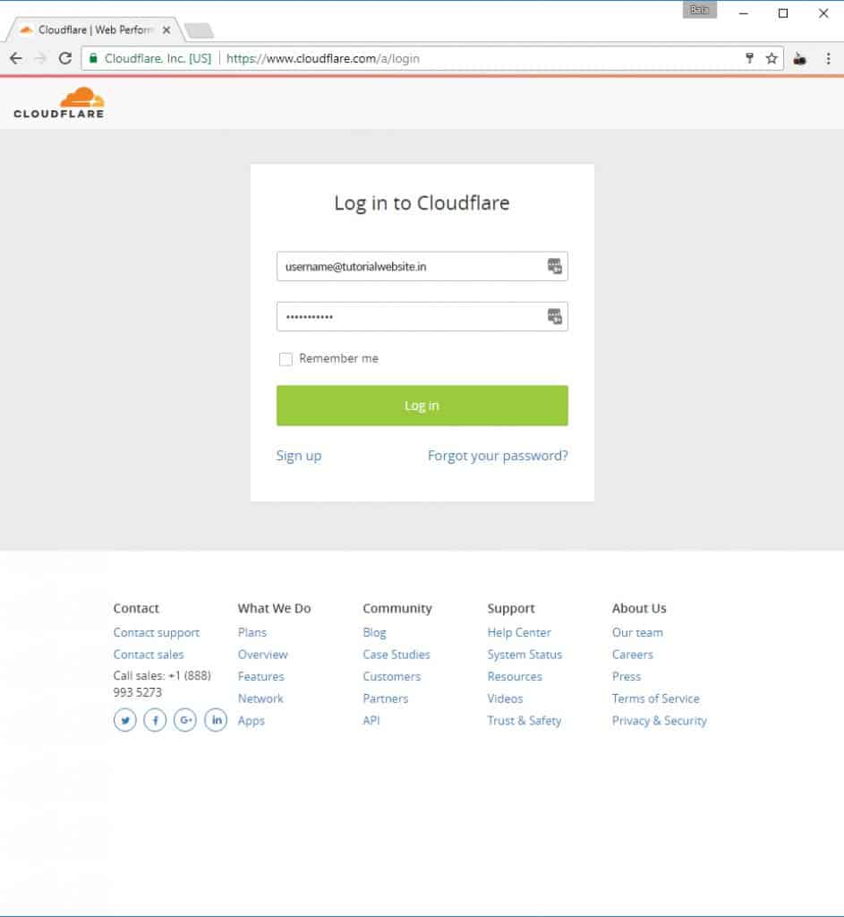 Login to CloudFlare.