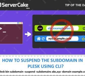 Suspend Sub domain