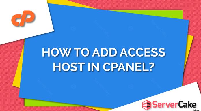 Add access host in cPanel