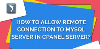 Allow remote connection to MySQL server