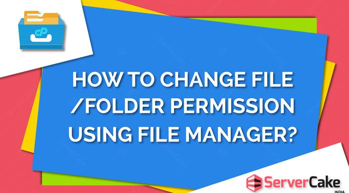 Change file or folder permission using file manager