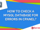 Check MySQL Database