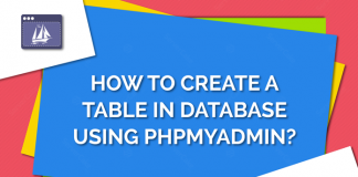 Create a table in database using phpMyAdmin