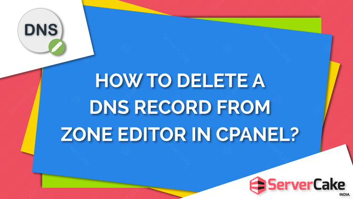 How to Delete a DNS record in Zone Editor in cPanel account?