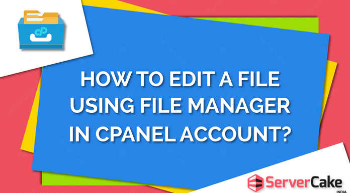 Edit a File using File Manager