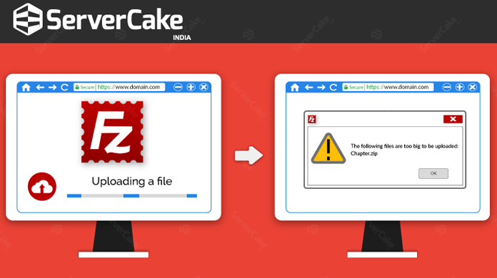 FileZilla Error when attempt to upload large files