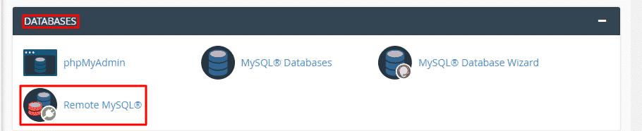how to create remote database mysql