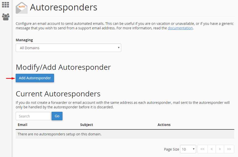 Go to Email section and click Autoresponder icon.