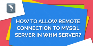 Remote connection in WHM