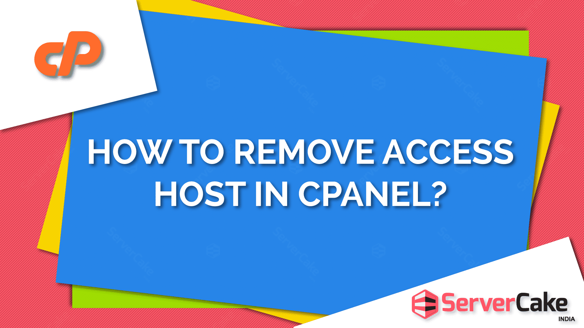 Remove access host in cPanel