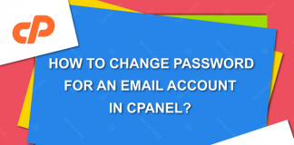 Change password for an email account in cPanel