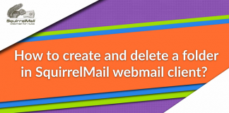Create and delete folder in SquirrelMail