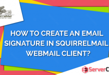 Create email signature in SquirrelMail webmail client