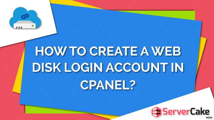 Create web disk login account