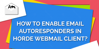 Add autoresponder in Horde webmail