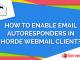 Add autoresponder in Horde webmail