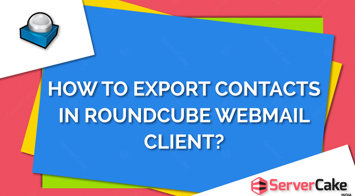 Export contacts in Roundcube webmail client