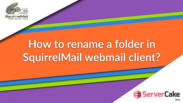 rename a folder in SquirrelMail webmail client
