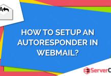 Setup an Autoresponder in Webmail