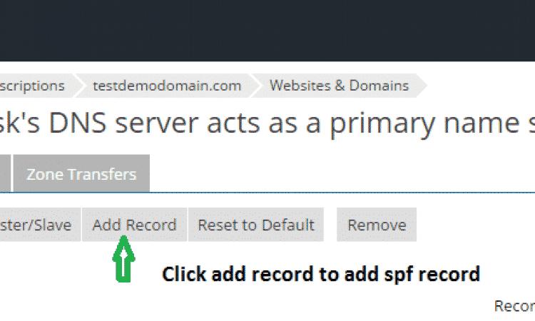 click add record
