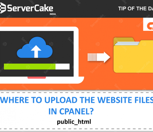 Upload website files in cPanel
