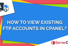 View Existing FTP accounts in cPanel