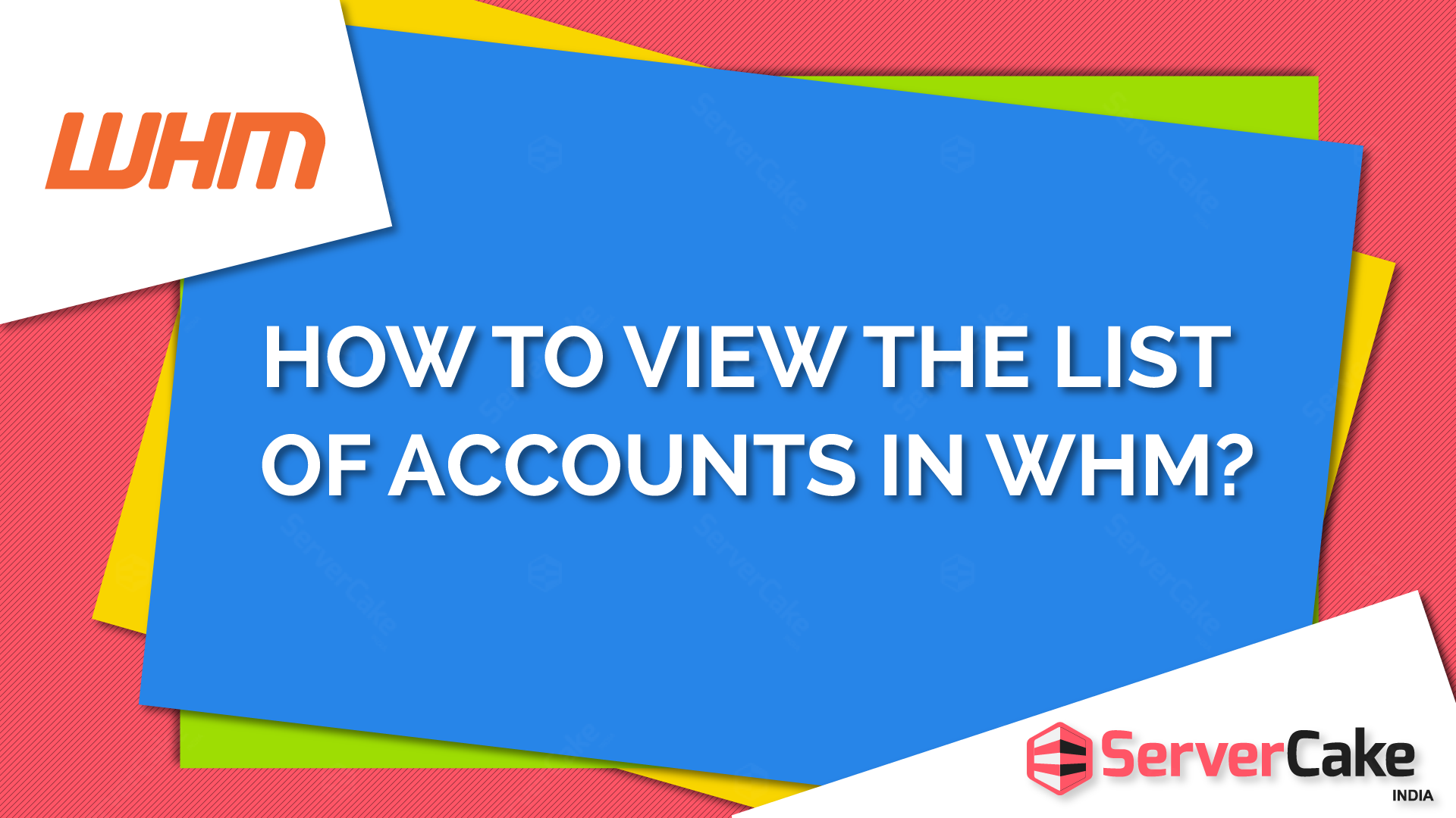 View Accounts list in WHM