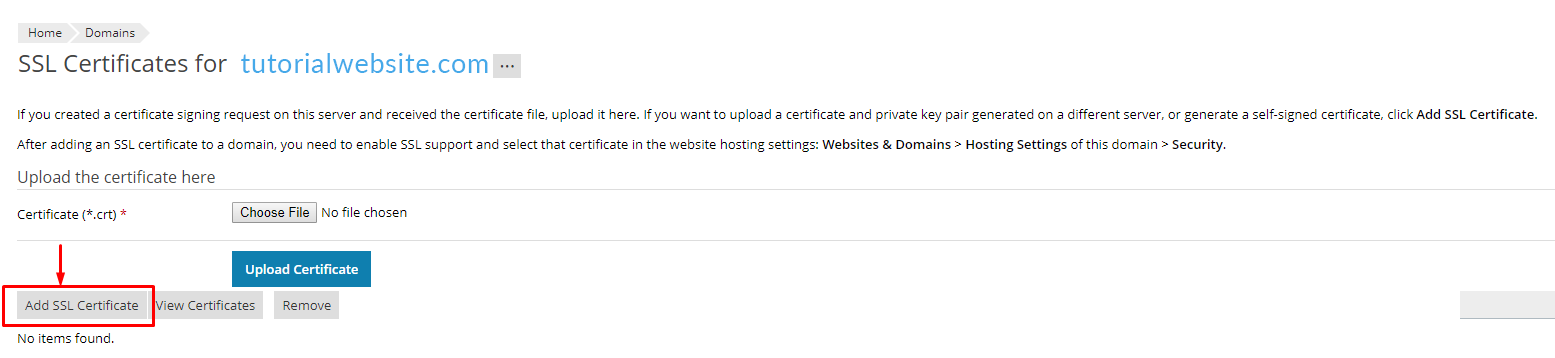 How To Generate Csrcertificate Signing Request For A Domain In Plesk