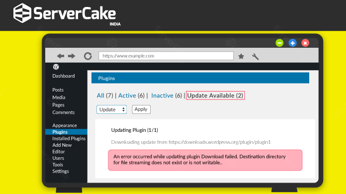 How to fix Plugin update failed error in WordPress? - ServerCake India