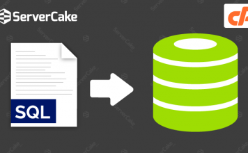 Import SQL file into database