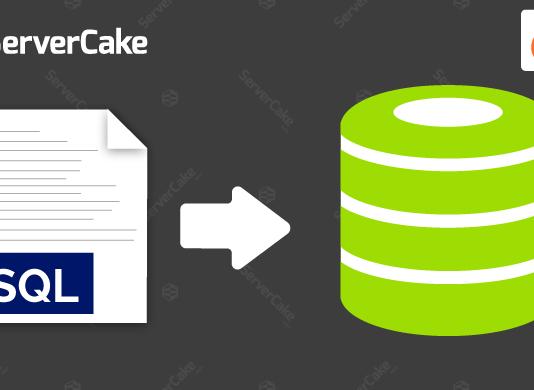 Import SQL file into database