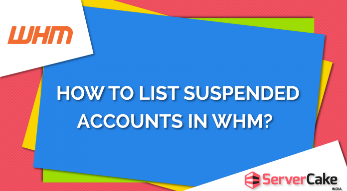 List Suspended Accounts in WHM