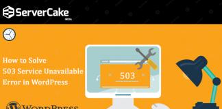 503 service error in wordpress