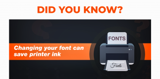 Changing your font can save printer ink